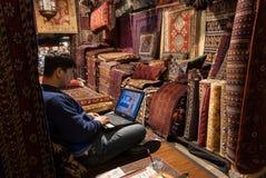 Carpet seller in London Stock Photography