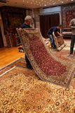 Carpet sellers put on a show Stock Image