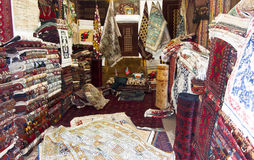 Carpet shop in Kabul Royalty Free Stock Image