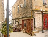 Carpet shop in the old part of Baku