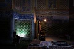Carpet shop in Samarkand stock images