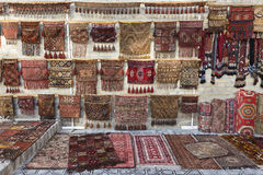 Carpet shop selling oriental rugs. Stock Image