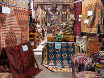 Carpet shop in souk, Dubai Royalty Free Stock Photography