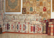 Carpet shop in Turkey Stock Photos