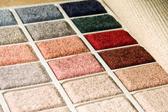 Carpet swatch. Colorful carpet swatch perfect for a display on a front page Stock Image