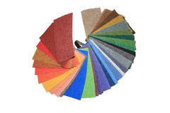 Carpet swatches in a shop Royalty Free Stock Photo