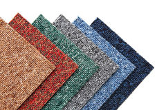 Carpet tiles stock image