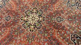 Carpet. Turkisch antique knitted carpet heriz Royalty Free Stock Images