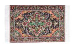 Carpet with varicoloured pattern horizontally lies Royalty Free Stock Photo