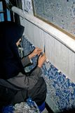 Carpet weaver Stock Photo