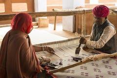 Carpet weavers Stock Photo