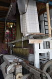 Carpet weaving loom, Turkey. Close up of carpet weaving loom in workroom in Turkey Royalty Free Stock Image