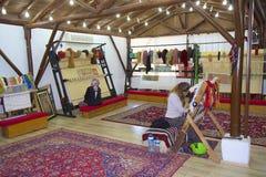 Carpet weaving in Turkey Royalty Free Stock Photos