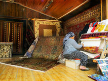 Carpet weaving Stock Image