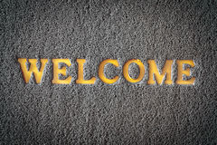 Carpet welcome mat Stock Photos