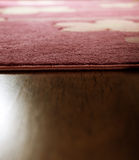 Carpet and wood parquet Royalty Free Stock Photo
