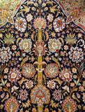 Carpet from wool and silk of classical design. Delhi, India stock photography