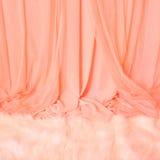 carpet zasłony futerka menchii biel Zdjęcia Royalty Free