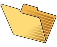 Carpeta abierta del amarillo. Foto de archivo libre de regalías