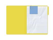 Carpeta amarilla Fotos de archivo