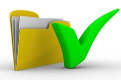 Carpeta amarilla del ordenador en el fondo blanco ilustración del vector