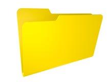 Carpeta amarilla vacía. aislado en blanco. Imagen de archivo libre de regalías