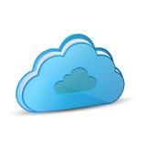 Carpeta computacional de la nube stock de ilustración