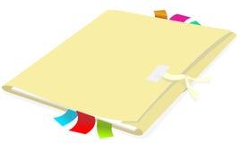 Carpeta con el documento Imágenes de archivo libres de regalías