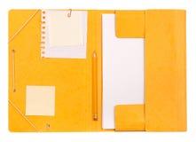 Carpeta con el papel de carta Foto de archivo libre de regalías