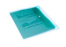 carpeta con las cartas en un fondo blanco Foto de archivo libre de regalías