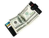 Carpeta con los dólares Imagenes de archivo