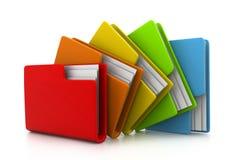 Carpeta con los documentos Imágenes de archivo libres de regalías