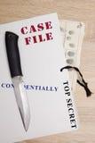 Carpeta con los ficheros confidenciales Imagen de archivo libre de regalías