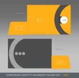 Carpeta-concepto 03 del negocio de la identidad corporativa ilustración del vector