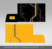 Carpeta-concepto 05 del negocio de la identidad corporativa stock de ilustración