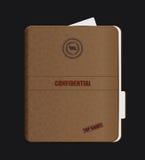 Carpeta confidencial vieja Fotografía de archivo libre de regalías