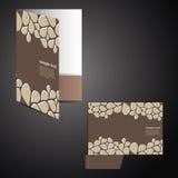 Carpeta corporativa con diseño cortado con tintas Imagenes de archivo