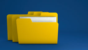 Carpeta de archivos amarilla Foto de archivo libre de regalías