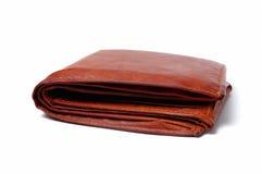 Carpeta de cuero de Brown Foto de archivo libre de regalías