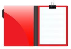 Carpeta de fichero con el papel