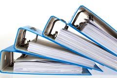 Carpeta de fichero con los documentos y los documentos Fotografía de archivo