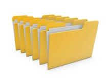 Carpeta de fichero de documento Foto de archivo libre de regalías