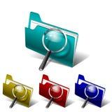 Carpeta de la búsqueda del vector Imagen de archivo libre de regalías