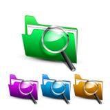 Carpeta de la búsqueda del vector Foto de archivo libre de regalías