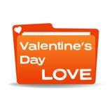 Carpeta de la tarjeta del día de San Valentín Foto de archivo