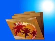 Carpeta de Manila de los días de fiesta con la impresión tropical Fotos de archivo libres de regalías
