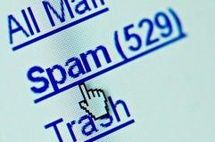 Carpeta del email del Spam Fotos de archivo libres de regalías