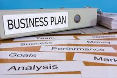 Carpeta del plan empresarial Fotos de archivo