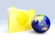 Carpeta global - Asia Imagen de archivo libre de regalías