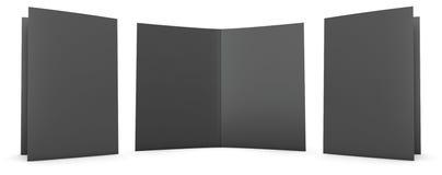 Carpeta negra Fotos de archivo